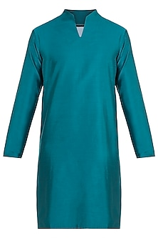 Green High Neck Kurta