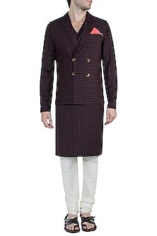 Black Terry Rayon Waistcoat by Unit by Rajat Suri