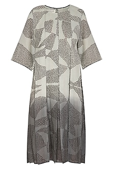 Sage Green Printed Ombre Dress by Urvashi Kaur
