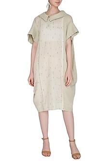 Sage Green Bandhani Dress by Urvashi Kaur