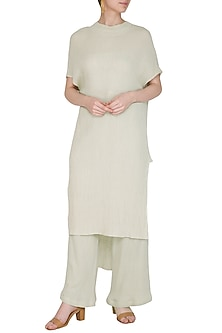 Sage Green Cotton Tunic by Urvashi Kaur