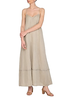 Grey Slip Dress by Urvashi Kaur