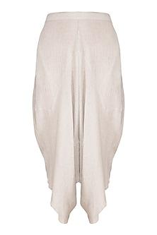 Grey Textured Pants by Urvashi Kaur