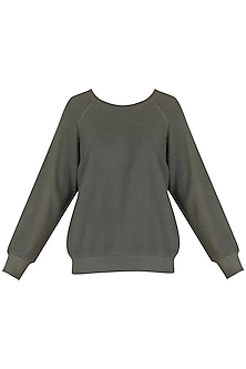 Grey Sweatshirt by Kapda By Urvashi Kaur