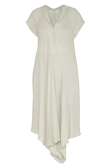 Sage Green Cotton Dress by Urvashi Kaur