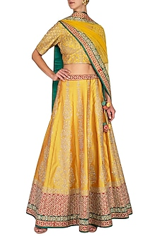 Multi Colored Embroidered Lehenga Set by Vandana Sethi