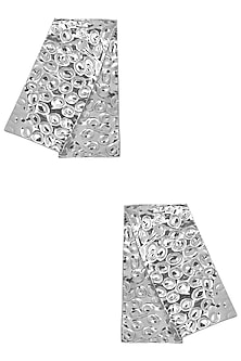 Silver Plated Rectangular Earrings by Valliyan by Nitya Arora