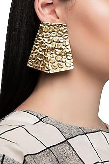 Gold Plated Rectangular Earrings