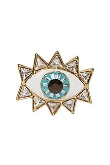 8f43ae7c5 Glod Plated Evil Eye Ring with Swarovski Crystals by Valliyan by Nitya Arora