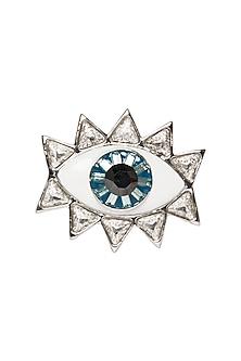 937838b81 Silver Plated Evil Eye Ring with Swarovski Crystals by Valliyan by Nitya  Arora