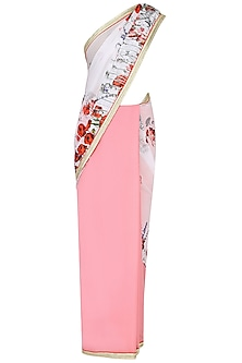 Blush Pink Floral Printed Saree