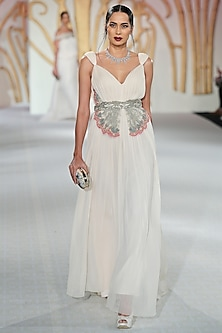 Ivory Embroidered Butterfly Gown by Varun Bahl