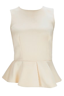 Peach Cut Out Peplum Top