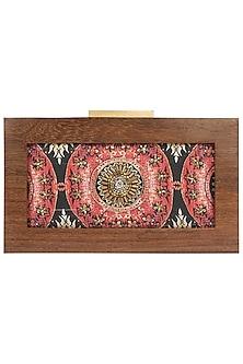Multi Color Printed Wooden Frame Clutch by Vareli Bafna Designs