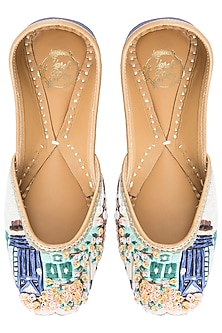 Multi Colour Embroidered Juttis by Vareli Bafna Designs