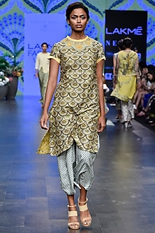 Olive Green Tunic With Duckegg Pants by Varun Bahl