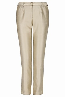 Rusty Dark Beige Pleated Pants