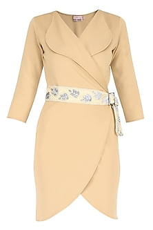 Light Gold Overlapping Petal Shaped Dress