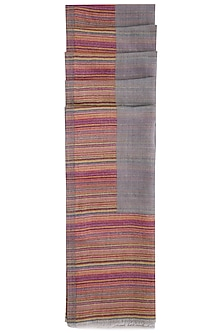 Grey striped reversible stole by Vilasa