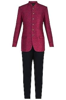 Fuschia Pink Digital Printed Jodhpuri Jacket