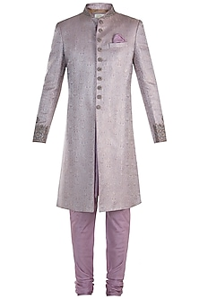 Muave Sherwani with Kurta and Pants