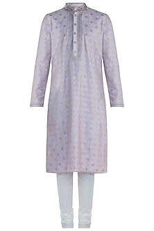 Purple Silk Kurta with Pants