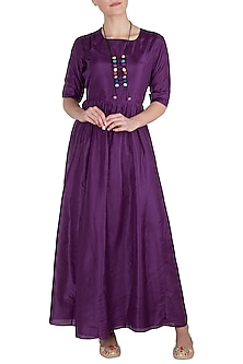 Violet Maxi Dress by Vishwa By Pinki Sinha