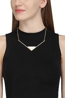 Gold Plated Howlite Stone Necklace