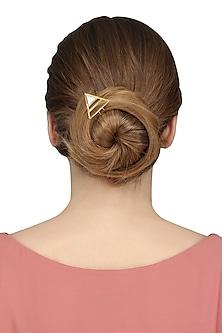 Gold Plated Semiprecious Stone Hair Pin by Varnika Arora