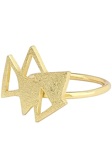 Gold Plated Ring by Varnika Arora