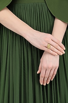 Gold Plated Ring by Varnika Arora