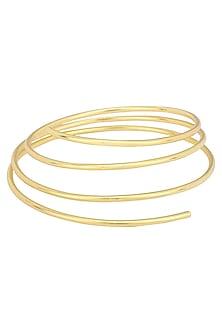 Gold Plated Triple Round Bracelet by Varnika Arora