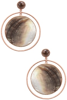 Rose gold plated Dune Earrings  by Varnika Arora
