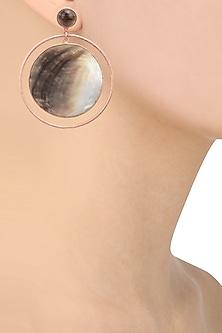 Rose gold plated Dune Earrings  by Varnika Arora