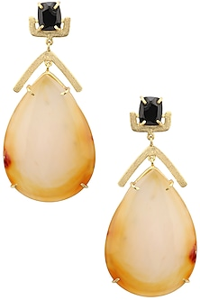 Gold plated Sandbar Earrings by Varnika Arora