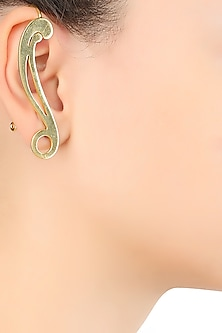 Gold Plated Statement Ear Cuffs by Varnika Arora