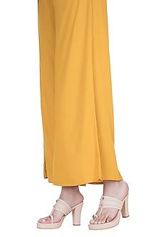 Cream Kolhapuri Block Heels by Veruschka By Payal Kothari