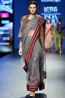 Golden Asymmetric Sleeves Coat by Vaishali S