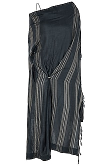 Black and Grey Midi Dress by Vaishali S