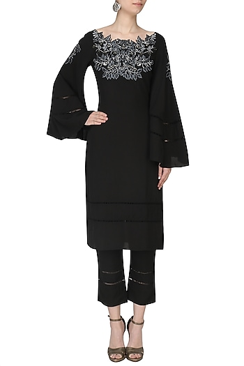 Black Thread Kurta Set