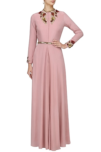 Onion Pink Jacket Style Gown