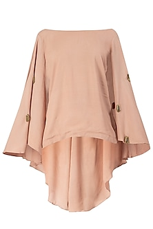 Nude Embroidered Cape Top