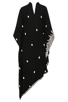 Black Pearl Embroidered Kaftans by Varsha Wadhwa