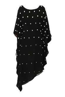 Black Pearl Embroidered Kaftan by Varsha Wadhwa