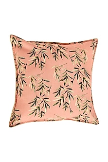 Peach Floral Dreams Pure Cotton Cushion Cover (Set of 2) by vVyom