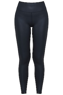 Black sheen leggings