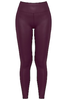 Wine sheen leggings