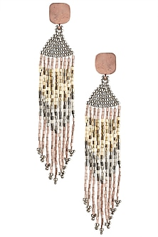 Rose Gold Plated Japanese Seed Beads Earrings by Palette