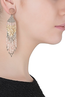 Rose Gold Plated Japanese Seed Beads Earrings
