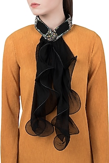 Black Bow Collar Scarf by Born 2 Flaaunt